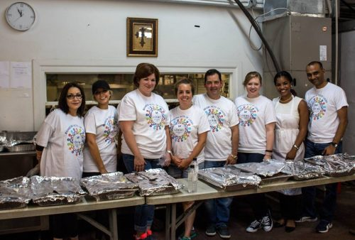 Loews New Orleans team members along with General Manager Mohan Koka serving on June 21, 2016 at the New Orleans Mission.